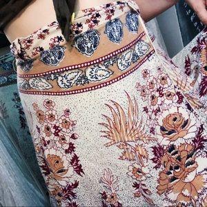 Vtg Handpainted + Sewn Classic Wrap Skirt